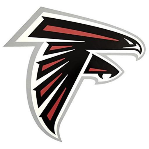 Applied Icon NFPO0201 29 in. NFL Atlanta Falcons Outdoor Small Pool Graphic Decal, Black