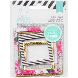 "Heidi Swapp Hello Beautiful Embellishments 7/Pkg Photo Frames 2""X2"" & 3""X3"""