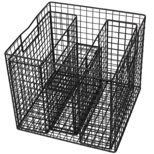 A & B Home HP40226 4 Piece Wire Baskets Set, Black