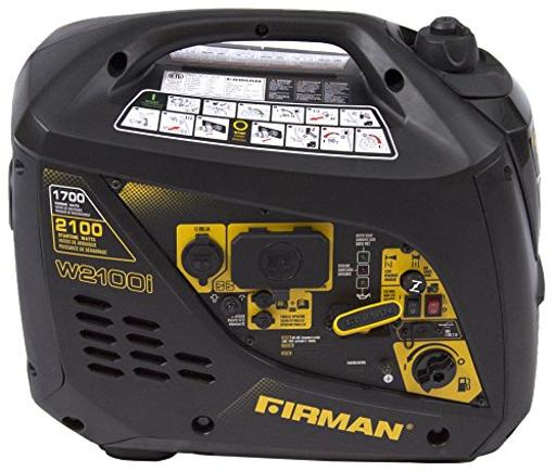 Firman Generators W01781 Power Equipment Gas Powered 2100/1700 Watt(Whisper Series)Extended Run Time Inverter