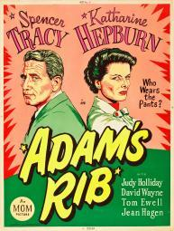 Adam'S Rib L-R: Spencer Tracy Katharine Hepburn On Us Poster Art 1949. Movie Poster Masterprint EVCMCDADRIEC023HLARGE