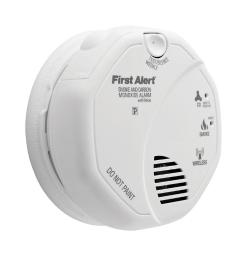 First Alert Battery-Powered Photoelectric Smoke and Carbon Monoxide Alarm - Case Of: 1;
