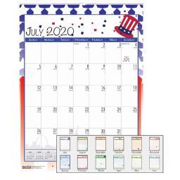 House of doolittle wall calendar seasonal jul-jun