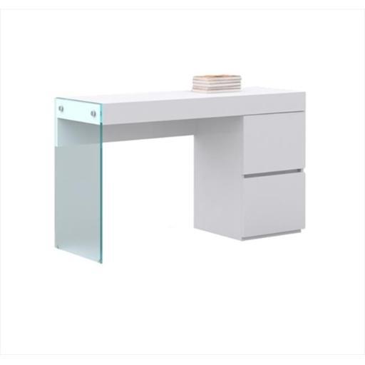Casabianca Furniture CB-111-DESK Il Vetro Desk - File Cabinet, White High Gloss