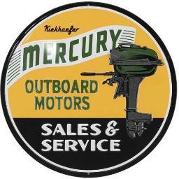 Open road brands 90168618s open road brands die cut emb tin w/knock out mercury marine