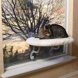 K&h pet products 9071 white k&h pet products universal mount kitty sill white 14 x 24 x 13