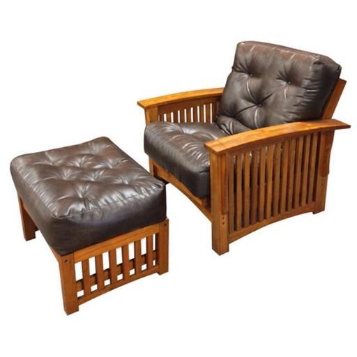 606 6 in. All Cotton Chair Microfiber Futon Mattress, Chocolate