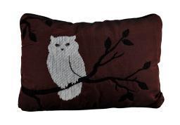 Beautiful Autumn Theme Night Owl Throw Pillow 18 X 12.5