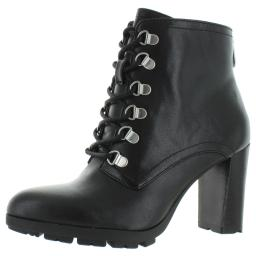 Adrienne Vittadini Womens Thad Leather Ankle Booties