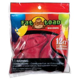 "Fat Toad Balloons Round 12"" 12/Pkg Cherry Red"