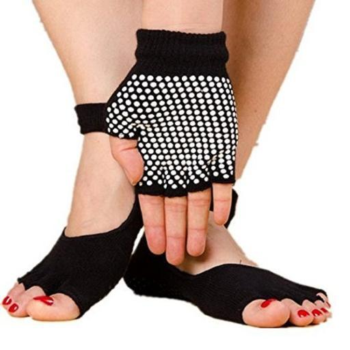 Extreme Fit Toeless Yoga Socks and Glove Set