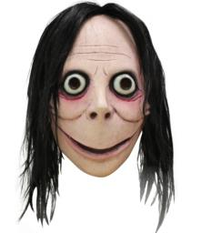 Momo Mask Costume Face Meme Internet Challenge Hoax Cosplay Scary Creepy Horror