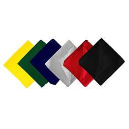 Everday Wear Versatile 22 x 22 In Anti Shredding Plain Poly-Cotton Blend Bandanas - Wholesale Lot - 65 Pack