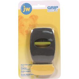 JW - DOG/CAT JW GRIP SOFT 2-IN-1 FINE AND FLEA COMBS  GRAY/YELLOW 209658