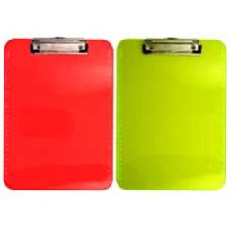 Saunders Manufacturing SAU21595 Plastic Clipboard- Letter- Holds .50in. of Paper- Neon Yellow