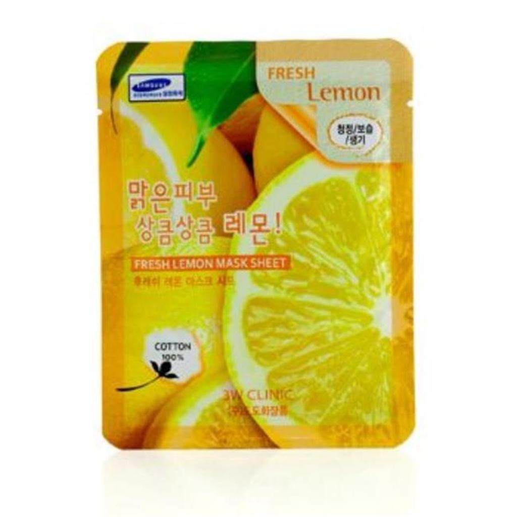 3W Clinic 179376 Mask Sheet - Fresh Lemon, 10 Piece