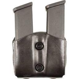 Desantis a01bjkkz0 desantis double mag pouch owb leather sig p365 black
