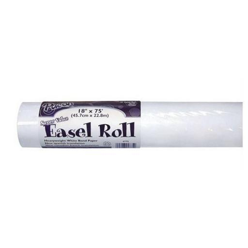 Strathmore / pacon papers 4771 white easel paper roll 12x100