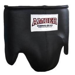 Amber Fight Gear Aag-3051-b-xl Leather Professional Boxing Ab Guard, Extra Large - Black