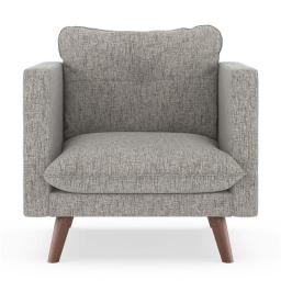NyeKoncept 50180501 Pebble Weave Jace Armchair, Heathered Taupe & Walnut