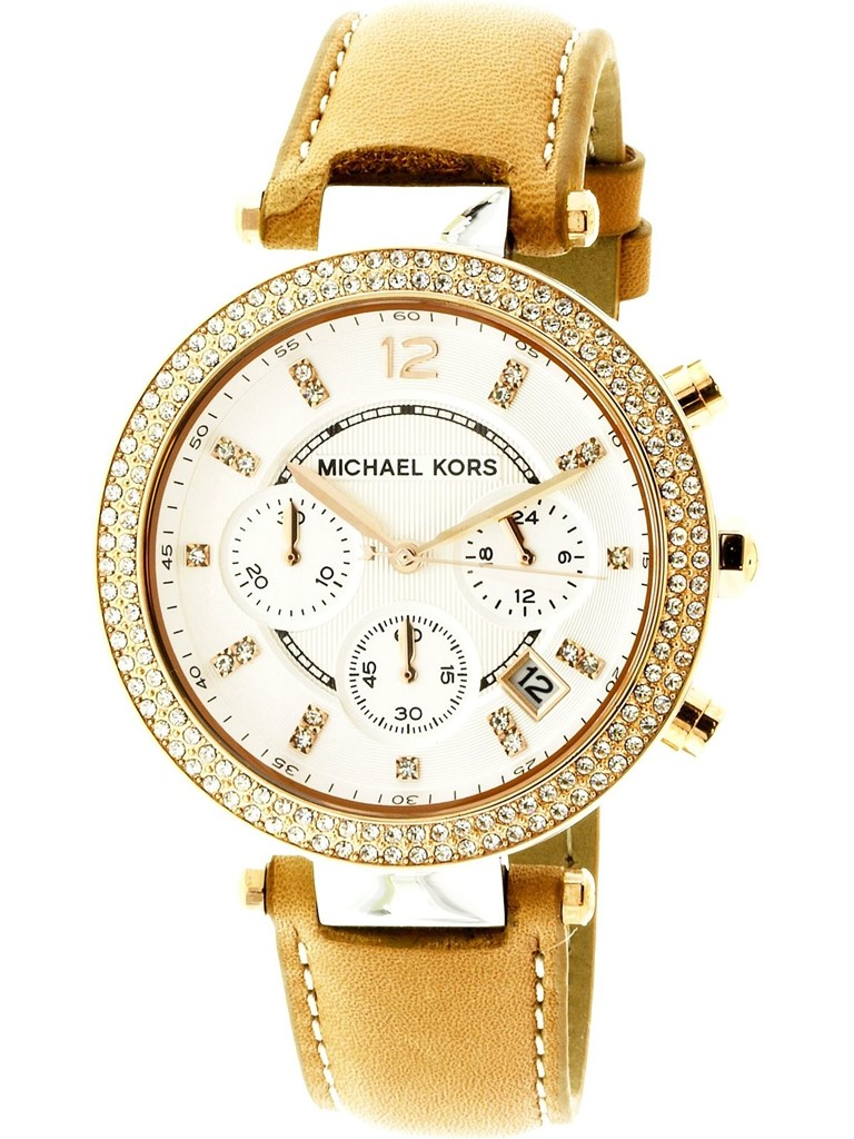 0313c167af06 Michael Kors Women s Parker Silver Leather Japanese Quartz Fashion Watch