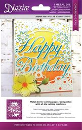 Crafters Companion Diesire Create-A-Card A2 Card Size Die Birthday Flowers