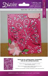 Crafters Companion Diesire Create-A-Card A2 Card Size Die Lace Butterfly