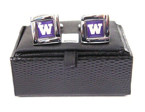 NCAA Washington State Cougars Square Cufflinks with Square Shape Logo Design Gift Box Set