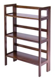 Winsome Solid Wood 3-Tier Folding and Stackable Shelf, Wide