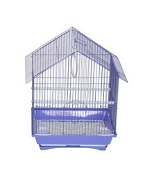 """YML A1114MPUR House Top Style Small Parakeet Cage - 11"""" x 9"""" x 16"""" - Purple"""
