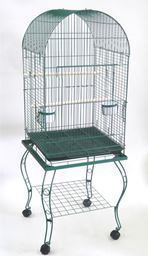 """YML 20"""" Dometop Parrot Cage With Stand - Green"""
