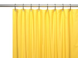 "American crafts 8 Gauge ""Hotel Collection"" Vinyl Shower Curtain Liner With Metal Grommets - Canary Yellow - 72"" X 72"""