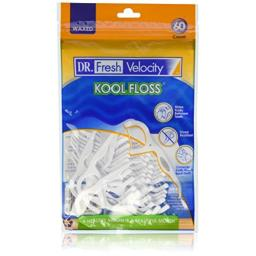 Dr. Fresh Velocity Kool Floss Picks 60 Count  (1 pack)
