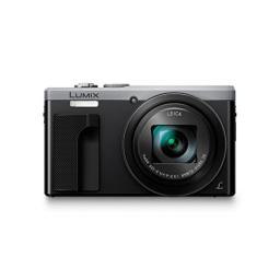 Panasonic LUMIX DMC-ZS60 Camera, 18 Megapixels, 1/2.3-inch Sensor, 4K Video, WiFi, Leica DC Lens 30X F3.3-6.4 Zoom (Silver) (International Model) No Warranty