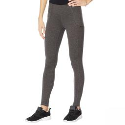 Copper Fit Women's Plus Size Travel Legging With Pockets Plus 3X Charcoal Heather