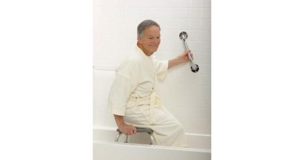 Medline 24 Inch grab Bar, Knurled chrome chrome grab bars help prevent falls in the shower. Shower bars are a great safety measure for any shower. 1 1/2  knurled chrome diameter, chrome-finished bars may be used horizontally or vertically.