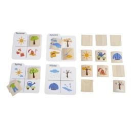 PlanToys Planpreschool Memo N' Matching Game - Seasonal