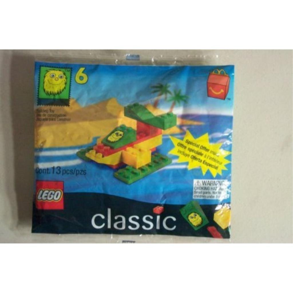 1999 Mcdonals Happy Meal #6 Lego # 2047 Yellow Fry Guy Seaplane