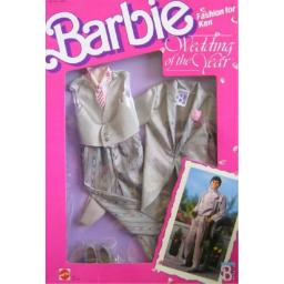 Barbie KEN Fashions WEDDING OF THE YEAR Groom TUXEDO Outfit & Accessories (1989 Mattel Hawthorne)