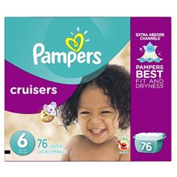 Pampers Cruisers Disposable Diapers Size 6, 76 Count, GIANT