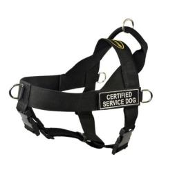 Dean & Tyler D&T UNIVERSAL CSERVICEDOG BK-XL DT Universal No Pull Dog Harness, Certified Service Dog, X-Large, Fits Girth, 91cm to 119cm, Black