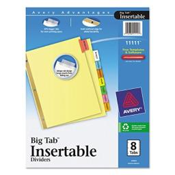 AVE11111 - Avery WorkSaver Big Tab Reinforced Dividers