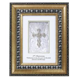 CB Gift Shimmering Faith, 25th Anniversary Table Top Frame,