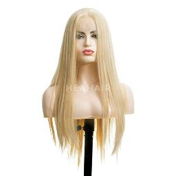 HEAHAIR Ombre Ash Blonde Lace Front Wigs Heat Resistant Natural Blonde Hair Synthetic Wigs 24 Inches Long HS0002
