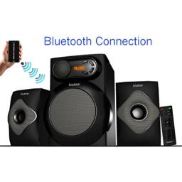 Boytone BT-220F, Wireless Bluetooth 2.1 Multimedia 40 Watt, Powerful Bass System with FM Radio, Remote Control, Aux Port, USB Audio for Phones, Tablets, Music and Home Theater Movies