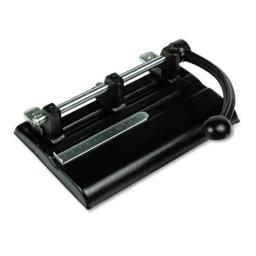 Master 1340PB 40-Sheet Lever Action Two- to Seven-Hole Punch, 13/32-Inch Holes, Black