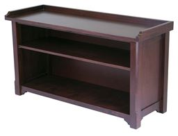 Winsome Solid Wood Milan Bench with Storage Shelf - Antique Walnut
