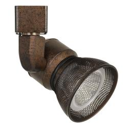 10W Integrated LED Metal Track Fixture with Mesh Head, Bronze