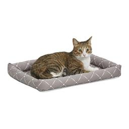 MidWest Homes for Pets 40222-MRD Quiet Time Couture Ashton Bolster Pet Bed, Small Dog/22, Mushroom