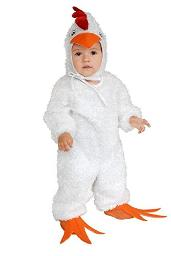 Charades Child's Little Chicken Costume White Large